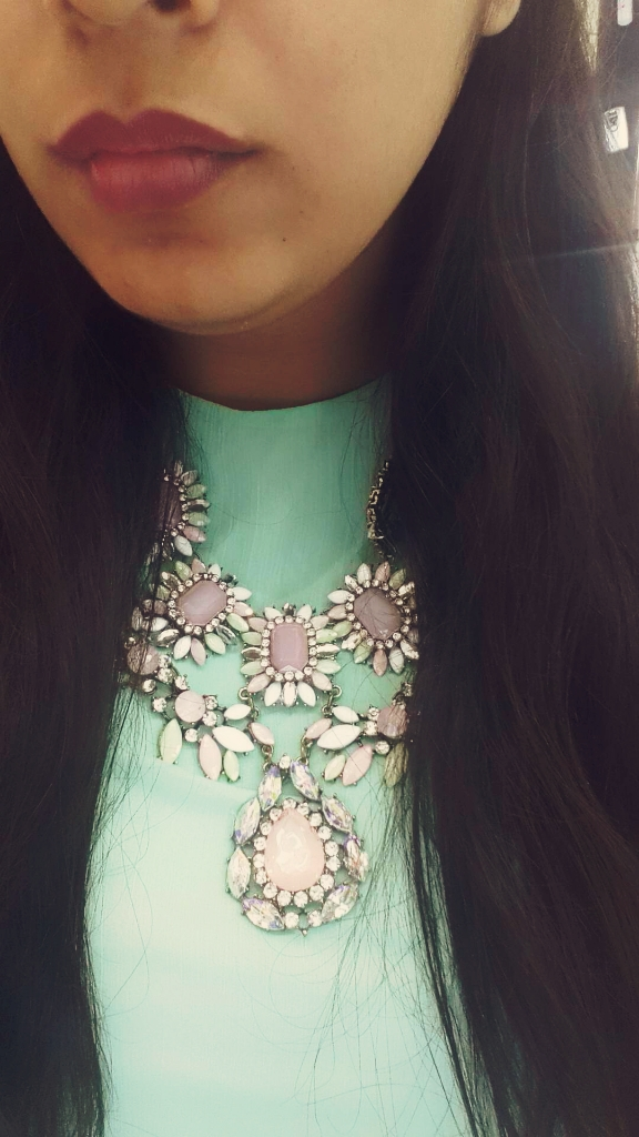 PRETTY FLORAL NECK PIECE FROM BLING TREASURE. SHOP AT HTTP://WWW.FASHIONICON.IN