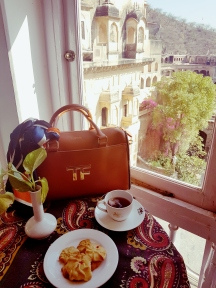 Tea Time at Neemrana Fort Palace