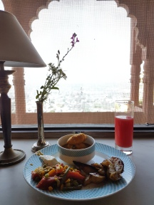 Breakfast with a view at Neemrana Fort Palace