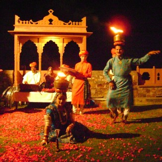 Traditional Folk Dance in Evenings at Neemrana Fort