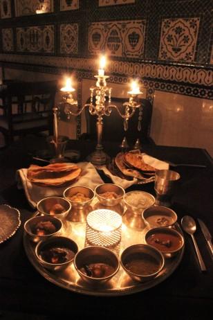 Rajasthani Thali at Mohal Mahal, JW Marriott Reosrt & Spa, Jaipur