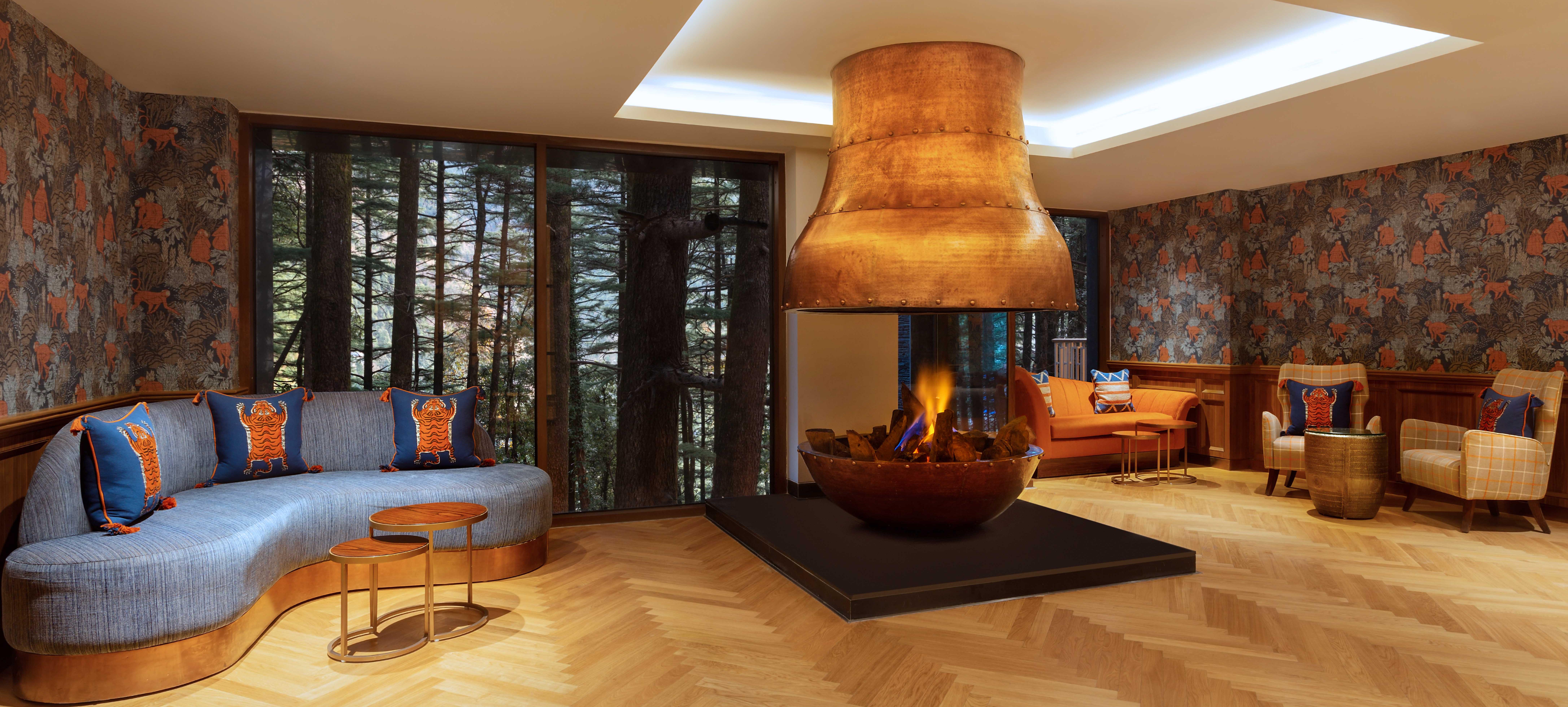 Hyatt-Regency-Dharamshala-Resort-Fireplace